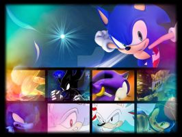 Sonic and his Transformations by WinxSonicFan12