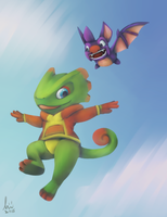 Yooka Hoodie - The sequel by lurils