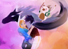 Adventure Time: I'll never let go~ by musicalscribble