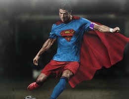 Cristiano Ronaldo - Superman by Rzr316