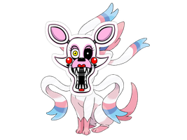Sylveon + Mangle by TheMuppetsTonight
