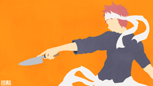 Shokugeki no Soma (Food Wars) Vector Art Wallpaper by monicastefane