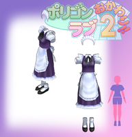 mmd pl2 sakuya's clothes by Len11999
