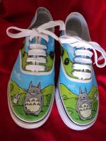 Restyle - Totoro Shoes by Owlnuny