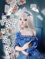 Alice and the Pack of Cards by Autonoe