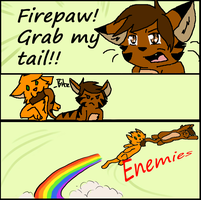 Grab my tail Firepaw by AHSystemDown