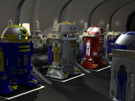 Astro Droids Standing By by dwilliams-66