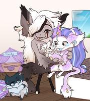 Baby Makes 3... OH! And Smoodge by Kandy-Cube