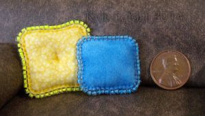 Miniature Sun And Sky Beaded Pillow Set by Kyle-Lefort