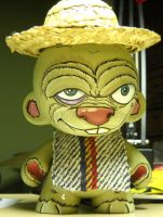 Sanchito 7' munny with poncho by anthonyDeVito