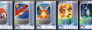 DBZ CCG Cards: Charmander Family by One-Mister-Badguy