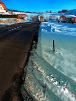 Winter road into far distance by patrickjobst
