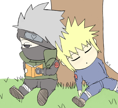 Kakashi and Minato - Hobbies by staticsilhouette