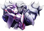 Megatron and Skydust :lets hug: by No-pe