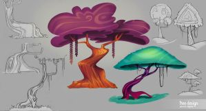 Tree designs by Martenitza