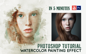Watercolor Painting Effect | Tutorial | IN 5 MINUT by Alex-Golden