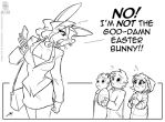 Not the Easter Bunny by jollyjack