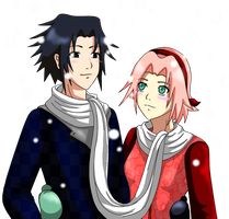 SasuSaku - Snow Date by inulover411