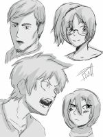 Attack on titan sketch dump by BeyondTheBlueberry