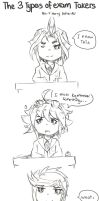 The 3 types of exam takers Arc v ver. by PastaEater27
