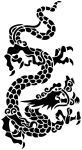Chinese Dragon Stencil by beraka