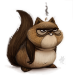 Daily Paint #661. Squirrel Quicky by Cryptid-Creations