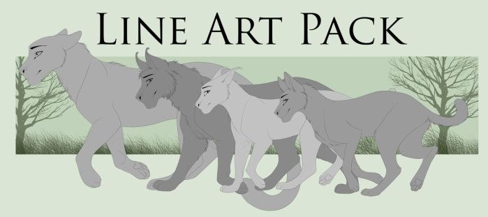 Lineart pack - Part 1 by WingsandFeathers