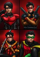 The bat family Robins together by ErgoAsch
