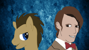 Dr Whooves And Dr Who by ComikzInk