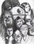 Star Wars Group by dragondoodle