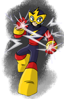 Elec Man- Rockman 25th Anniversary Submission by Blayaden
