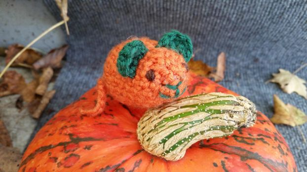 Crochet: Autumn Mouse by cottoncritter