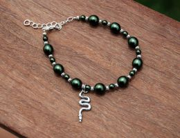 Slytherin House Anklet by kittykat01