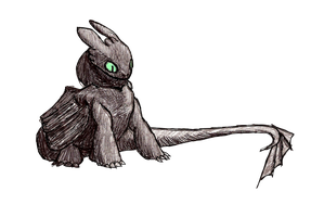 Toothless, Rona Doodle Style by Shadow-and-Flame-86