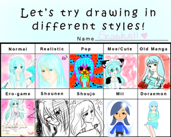 DIFFERENT STYLES MEME by HokiMaru