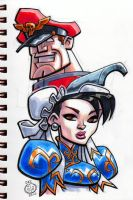 Chun Li and M Bison by Chad73
