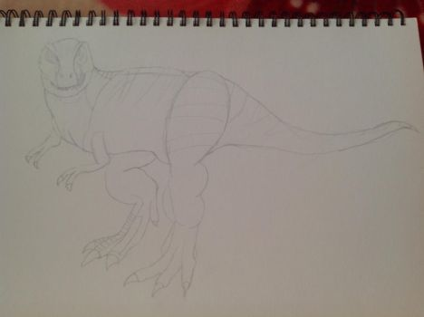 Tyrannosaurus (sketch) by Gryphondrake7991