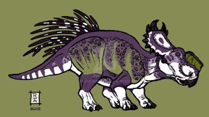 Pachyrhinosaurus canadensis - Colored by raven-amos