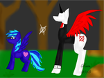 Alice and Slender mane by rainbowthedragon