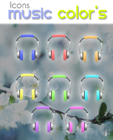 Icon's Music Color's By PiitufiitoGrr by PiitufiitoGrr