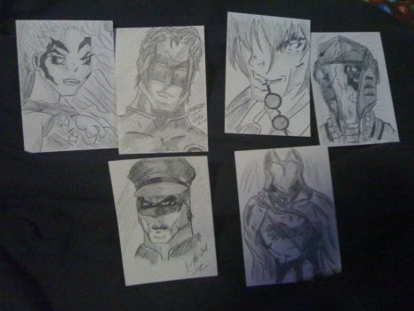 Various Sketch Cards by JezabelPheonix