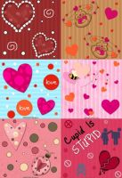 Valentine Pattern Set by krystalamber2009