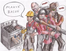 Makin Bacon by CalliopeCloudCat