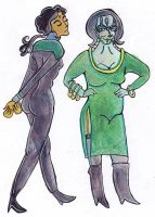 Genderbent Bashir and Garak by jossujb