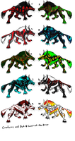 Adoptables Beasties - CLOSED by lover-of-the-Drow