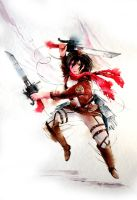 Mikasa Ackerman - Watercolor Speed Paint by Abstractmusiq