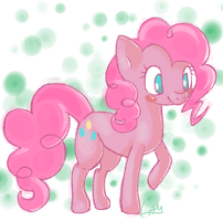 Pinkie Pie: My Little Pony by cappydarn