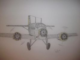 Strike Witches: Junkers Ju52 by MJBTB-3