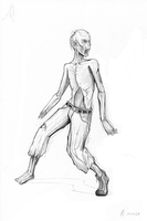 (2013-01-28) Zombie #sketchDaily by PronouncedKnee