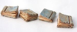 Small Old Library Books by NeverlandJewelry